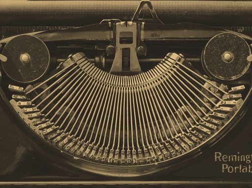 "Uli K.: ""The Old Smiling Typewriter""; ""Verflossene Zeit"" mit ""Zentralperspektive"" (A28/W06) – ""Former times"" with ""Central perspective"""