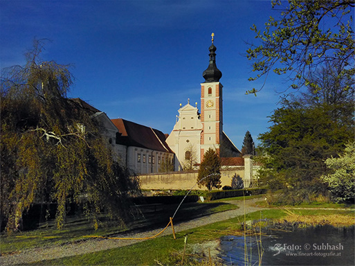 """Subhash: """"Klostergarten, Kirche und Stift Geras"""""""
