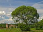 """Subhash: """"Landschaft mit Schloss Schwarzenau"""""""
