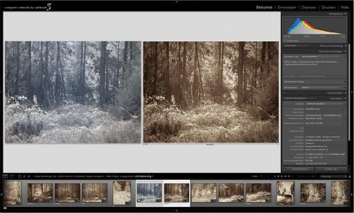 Screenshot Lightroom vorher/nachher