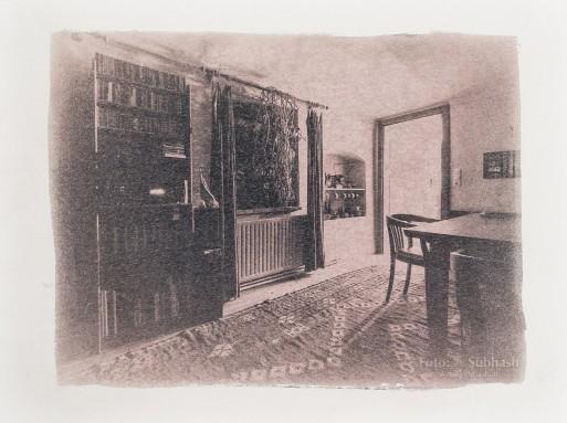 "Subhash: ""Living room #4248"" (cyanotype)"