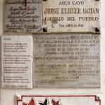 Gedenktafeln für Jorge Gaitán in Bogotá